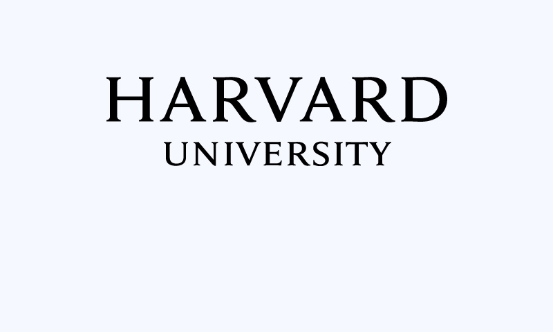 Harvard University title in all capital letters