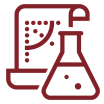 Research laboratory beaker icon
